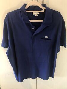 Size 9 XXXL 3XL Lacoste Polo Shirt, Blue, Great condition