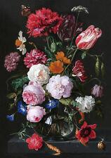 17C Dutch Painting Floral Still Life Flowers Fine Art Canvas Print