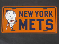 Vintage New York Mets License Plate circa 1960's MINT CONDITION