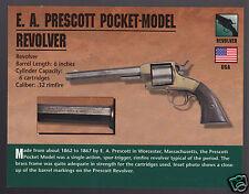 E.A. PRESCOTT POCKET-MODEL REVOLVER .32 Hand Gun Classic Firearms PHOTO CARD