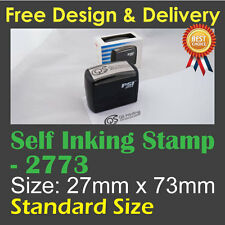 Customised Custom Make Business Name Address Self Inking Ink Stamp 27mm x73mm
