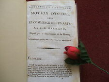 HARMAND J.B. : CONVENTION NATIONALE - REVOLUTION 1794