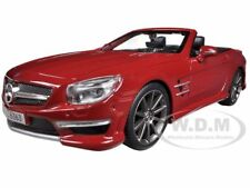 MERCEDES SL 63 AMG CONVERTIBL​E RED 1/24 DIECAST CAR MODEL BY MAISTO 31503