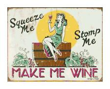 Make Me Wine Humorous Retro Sign DIGITAL Counted Cross-Stitch Pattern Chart