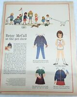 1962 VINTAGE BETSY MCCALL AND THE PET SHOW PAPER DOLLS UNCUT UNUSED