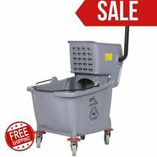 Commercial Wet Mop Bucket & Wringer Combo 35 Quart Gray Janitorial Hotel