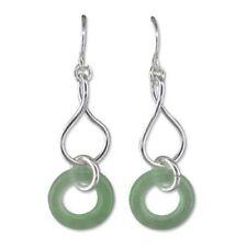 Pendientes de joyería con gemas ganchos verde
