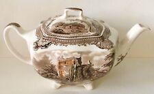 Vintage Johnson Brothers Old Britain Castles Multi-Color Teapot & Lid 4 Cup MINT
