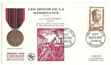 France Old Cover French Resistance Hero Louis Martin Bret 1959
