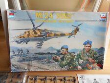 Modelkit ESCI / ERTL MI 24 Hind + Russian Spetsnaz on 1:72 in Box