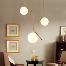 New Modern Suspension Chandelier White Ball Round Pendant Light