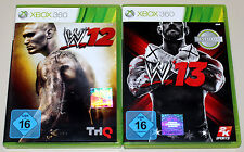 2 GIOCHI XBOX 360 Bundle-WWE 12 & 13-Wrestling