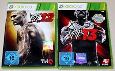 2 XBOX 360 SPIELE BUNDLE - WWE 12 & 13 - WRESTLING