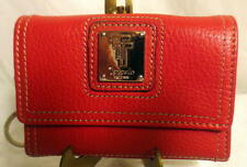 Tignanello Red Leather Mini Change Purse with Key holder