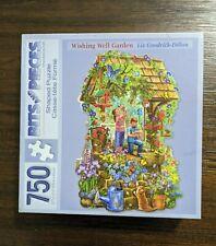 "Bits & Pieces 750 pcs Shaped Jigsaw Puzzle ""Wishing Well Garden"""