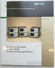 HP 54657A 54658A 54659B Measurement/Storage Modules User's Guide P/N 54657-97010