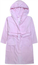 Girls Dressing Gown Kids New Hooded Fleece Sequin Bath Robe Pink Age 7-13 Years