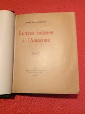 Rémy de Gourmont - Lettres intimes à l'Amazone - 1927 - Mercure de France - B16