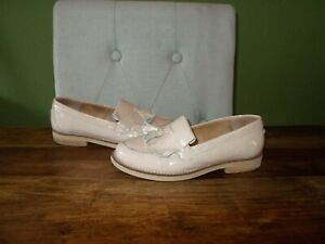 Womens Light Pink (Nude) Patent Leather OFFICE Tassel Loafers  Size UK 3, EU 36