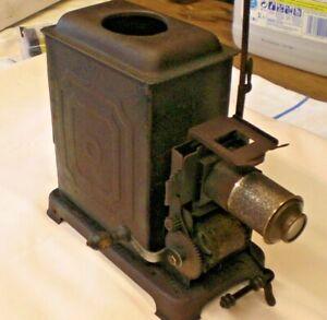 ANTIQUE GERMAN MAGIC LANTERN SLIDE 35mm FILM MOVIE PROJECTOR OIL LAMP HAND CRANK