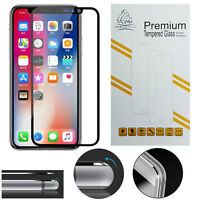 New Metal Edge iPhone X Black Gorilla Tech Brand Screen Protector Tempered Glass