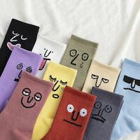 Women's Funny Expression Socks Girls Cute Socks Unisex Surprise Men Mid Socks UK