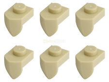 6x LEGO® 15070 1x1 Platte modifiziert mit Zahn vertikal beige sandfarben tan NEU