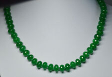 20inches Natural Green 5x8mm Green Jade Faceted Roundel Beads Necklace PN1014