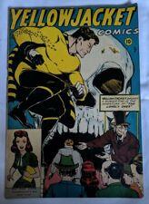 OMG!! YELLOWJACKET COMICS #7 1946 STUNNER! Golden Age Gem!