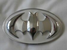 Batman rare belt buckle white chrome metal belt buckle
