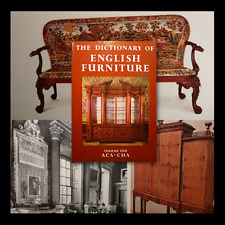 antiquariato arredamento inglese Dictionary of english furniture 3 voll 1983