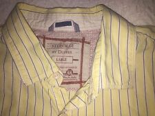 St George by Duffer Mens Yellow Stripe Shirt, Size Large