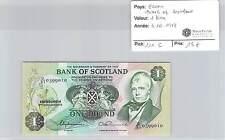 BILLET ECOSSE - BANK OF SCOTLAND - 1 LIVRE - 3.10.1978