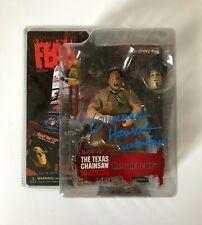 Mezco Cinema of Fear Leatherface Signed by Gunnar Hansen Jason Myers mask bust