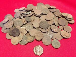 (1) Uncleaned Higher Grade Ancient Roman Coin / Constantine the Great Era 330 AD