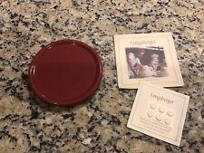 Longaberger Pottery Coasters/Crock Lid Paprika Set Of Two