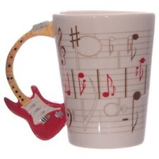 Novelty Ceramic Guitar Handle Shaped Coffee Tea Mug Home Office Decor MUG104