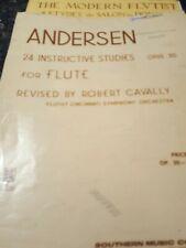 Andersen 24 Instructive Studies Opus 30 Flute