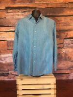 Polo Ralph Lauren Long Sleeve Button Down Shirt Men's Size XL Blue Red Striped
