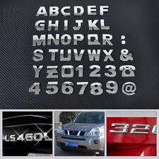 40pc 3D Car DIY Metallic Alphabet letter Number Emblem Badge Decals sticker Trim