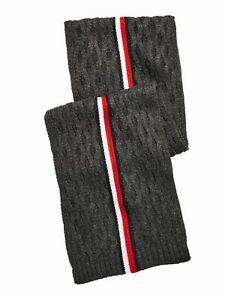 TOMMY HILFIGER Mens Gray Striped Winter Scarf