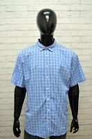 Camicia Uomo TOMMY HILFIGER Taglia Forte Maglia Polo Quadri Cotone Big Shirt Blu