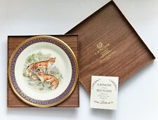 Lenox Boehm Red Foxes Woodland Wildlife Collector Plate 1974 Ltd Edition Mint