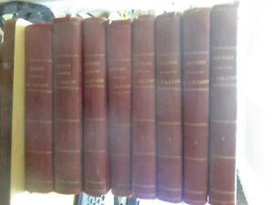 """""""Oeuvres Complètes de Voltaire"""" Complet en 8 Volumes (Avenel & Bédollière) 1867"""