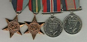 WW11 Pacific Island Group of Medals To TIDEMANN ANDREW J Service No QX59901