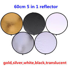 CY 60cm 24' 5 in 1 Portable Collapsible Light Round Photography Reflector studio