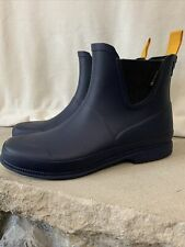 Tretorn Chelsea Ankle Boots Womens Size 8 (EU 39) Navy yellow Rubber Waterproof