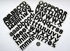 NO 586 Scrapbooking - Large Black Alphabet / Letters Stickers - Scrapbook Crafts