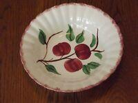 "Vintage Southern Potteries Blue Ridge Crab Apple 9-1/2"" Round Serving Bowl"