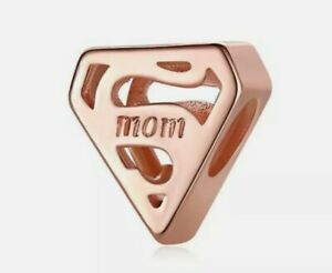 Rose Gold Super MOM European Spacer Charm Bead!!